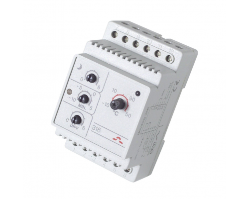 Терморегулятор электронный для наружных систем DEVIreg 316