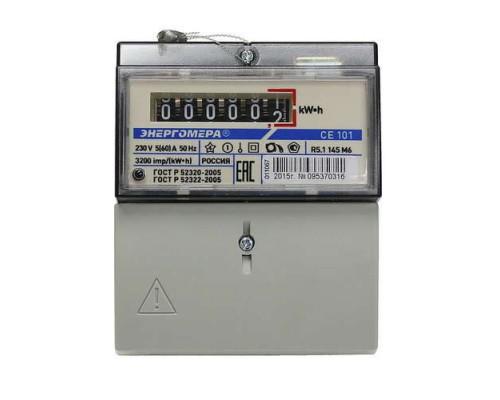 Счетчик 1-фазный (эл/рейка) CE101 R5 145 M6 5-60A