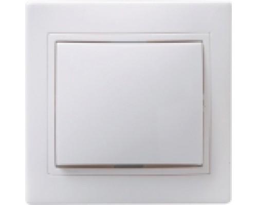 А-008 кнопка звонка 1-клавишная белая