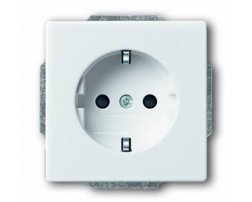 ABB розетка 1-я с/з  Basic 55 20 EUC 94-507