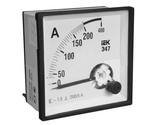 Амперметр Э47 400/5А 96*96