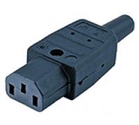 Разъем IEC 60320 C13 220в. 10A на кабель (плоские контакты внутри разъема)