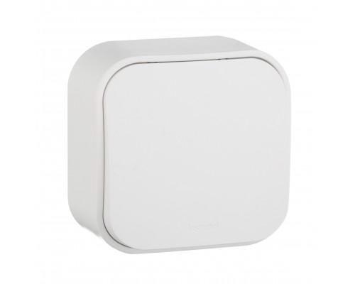 Legrand Quteo кнопка 1-клавишная накладная белая 782205