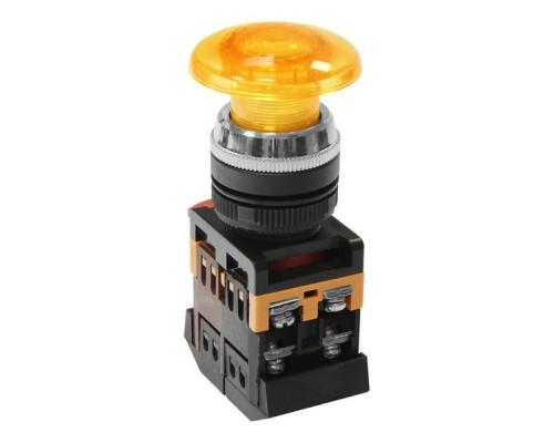 Кнопка AELA-22 гриб с подсветкой 1з+1р