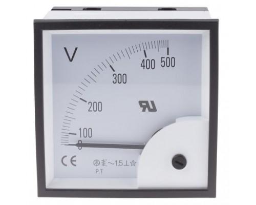 Вольтметр 500V 120*120 AC-Ц42702
