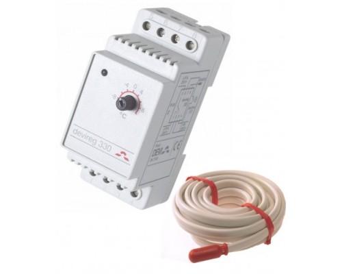 Терморегулятор электронный для обогрева труб -10/+10 DEVI 330