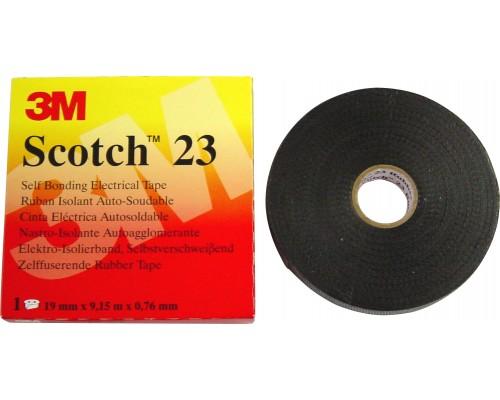 Изолента резиновая 19мм 9,1м сырая резина Scotch 23