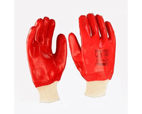 Перчатки маслостойкие из резины и ткани